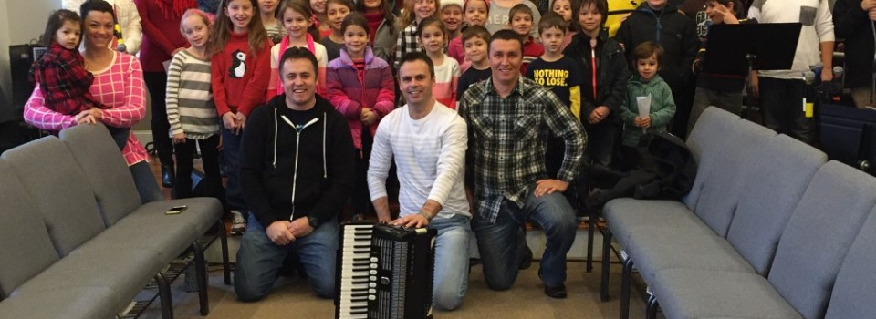 Sunday School Kids Caroling 2014